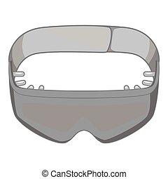 Sleeping mask icon, gray monochrome style