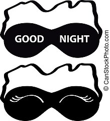 Sleeping mask on white background