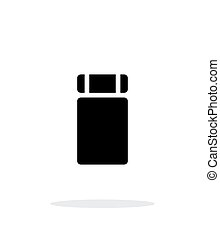 Sleeping mat simple icon on white background. Vector...