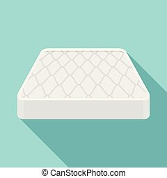 Sleeping mattress icon, flat style