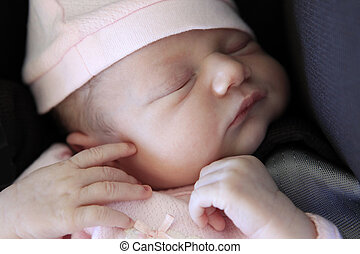 Sleeping newborn baby