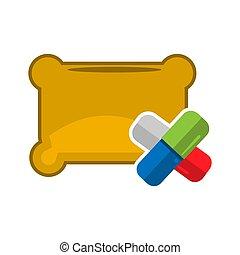 Sleeping pills, flat design. Vector Illustration on white background