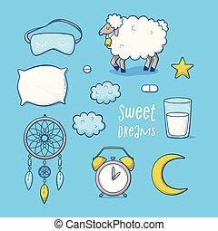 Sleeping set, sweet dreams