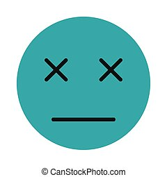 Sleeping smiley icon, flat style