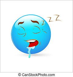 Sleeping Smiley Icon Vector