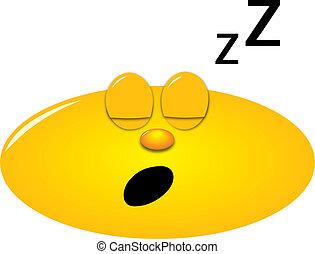 Sleeping smiley - Smiley sleeping with open mouth