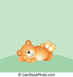 Sleeping teddy bear background