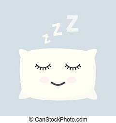 sleeping white pillow