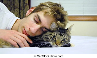 Sleeping with a Pet Cat