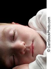 sleeping young boy