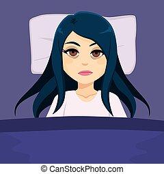 Sleepless Girl Insomnia