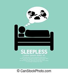 Sleepless Person Symbol Vector Illustration