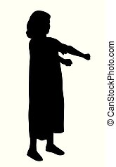 Sleepwalker girl - Illustration of a young sleepwalking girl...