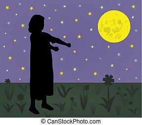 Sleepwalking girl