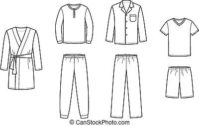 sleepwear clipart and stock illustrations 1 577 sleepwear vector rh canstockphoto com christmas pajamas clipart clipart put on pajamas