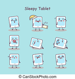 Sleepy cartoon digital tablet pc