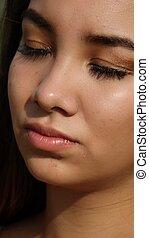 Sleepy Hispanic Teenage Girl