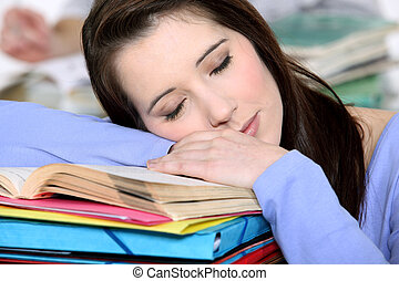 Sleepy student.