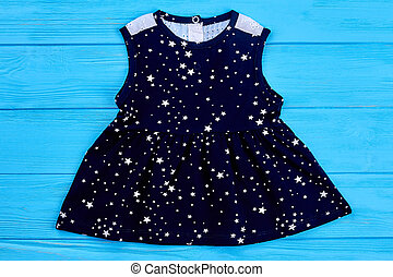 sleeveless, baby-girl, algodão, dress.