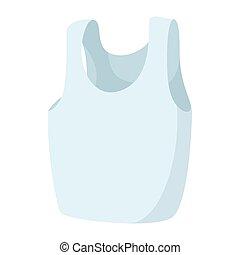 Sleeveless shirt icon, cartoon style