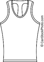 Sleeveless shirt icon, outline style