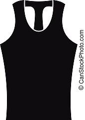 Sleeveless shirt icon, simple style