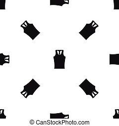 Sleeveless shirt pattern seamless black