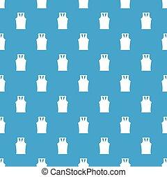 Sleeveless shirt pattern seamless blue