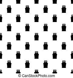 Sleeveless shirt pattern vector