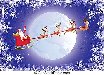 sleigh, サンタ