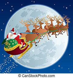 sleigh, 2, santa