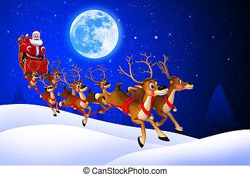 sleigh, claus , δικός του , santa