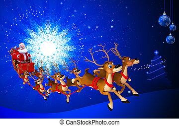 sleigh, claus, el suyo, santa