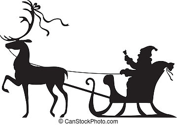 sleigh, equitación, claus, venado, santa