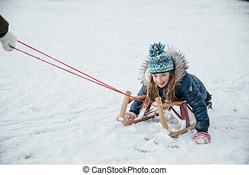 sleigh, flicka