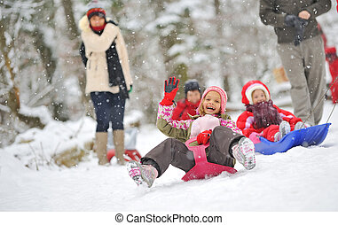 sleigh, piccola ragazza