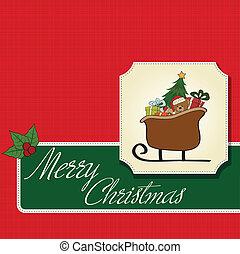 sleigh, regali, natale