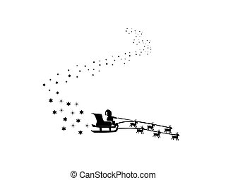 sleigh, santaâ´s, plano de fondo