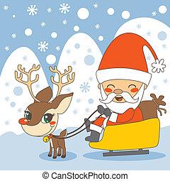 sleigh, santas