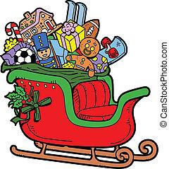 sleigh, santa's