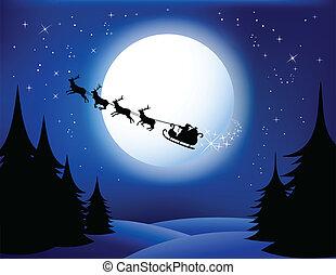 sleigh, santa`s