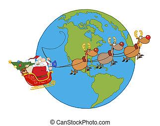 sleigh, suo, volare, santa