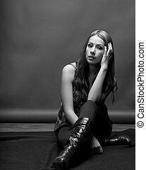 Slender Latina Model In 20's
