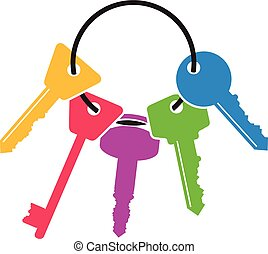sleutels, bos