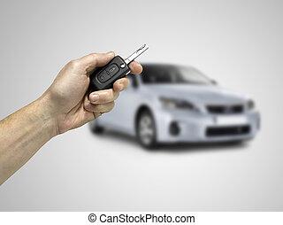 sleutels, om te, de, auto