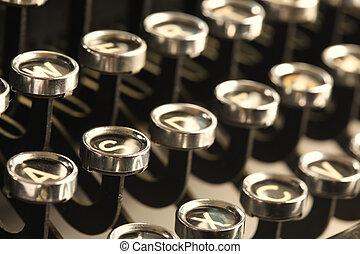 sleutels, ouderwetse , typemachine