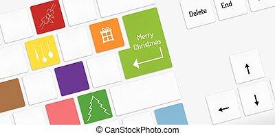 sleutels, symbolen, witte kerst, toetsenbord