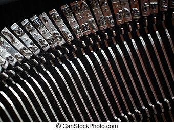 sleutels, typemachine