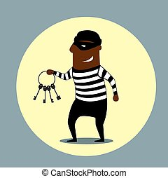 sleutels, verdragend, set, inbreker