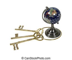 sleutels, wereld